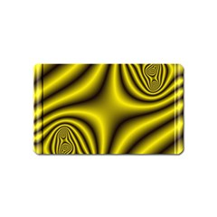 Yellow Fractal Magnet (Name Card)