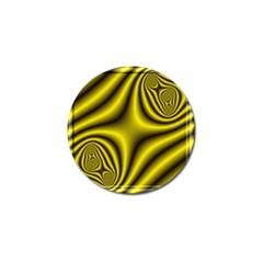 Yellow Fractal Golf Ball Marker (4 Pack)