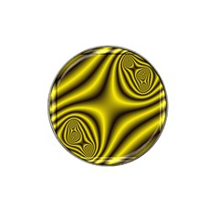 Yellow Fractal Hat Clip Ball Marker (4 Pack)