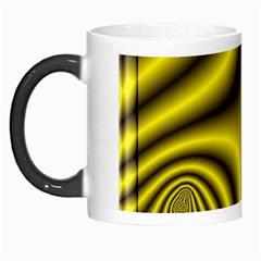 Yellow Fractal Morph Mugs