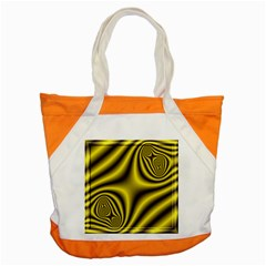 Yellow Fractal Accent Tote Bag