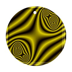 Yellow Fractal Round Ornament (Two Sides)