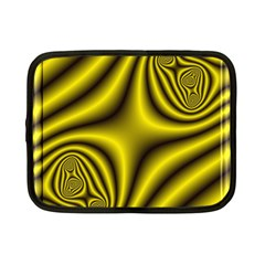 Yellow Fractal Netbook Case (small)
