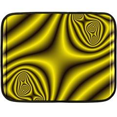 Yellow Fractal Fleece Blanket (Mini)