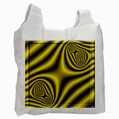 Yellow Fractal Recycle Bag (One Side)