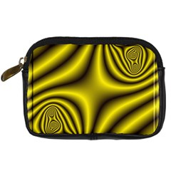 Yellow Fractal Digital Camera Cases