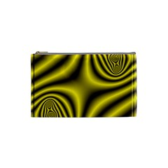 Yellow Fractal Cosmetic Bag (Small)