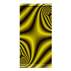 Yellow Fractal Shower Curtain 36  X 72  (stall)