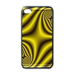 Yellow Fractal Apple Iphone 4 Case (black)