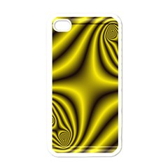 Yellow Fractal Apple Iphone 4 Case (white)