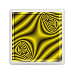 Yellow Fractal Memory Card Reader (square)