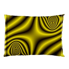 Yellow Fractal Pillow Case (Two Sides)
