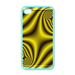 Yellow Fractal Apple Iphone 4 Case (color)