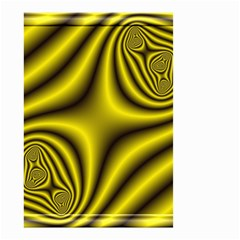 Yellow Fractal Small Garden Flag (Two Sides)