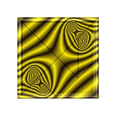Yellow Fractal Acrylic Tangram Puzzle (4  x 4 )