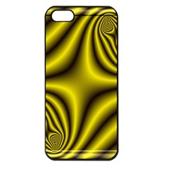 Yellow Fractal Apple iPhone 5 Seamless Case (Black)