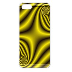 Yellow Fractal Apple iPhone 5 Seamless Case (White)