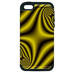 Yellow Fractal Apple iPhone 5 Hardshell Case (PC+Silicone)