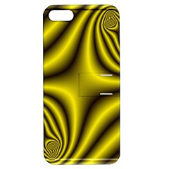 Yellow Fractal Apple iPhone 5 Hardshell Case with Stand