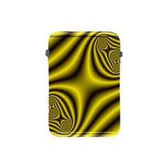 Yellow Fractal Apple iPad Mini Protective Soft Cases