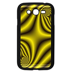 Yellow Fractal Samsung Galaxy Grand DUOS I9082 Case (Black)