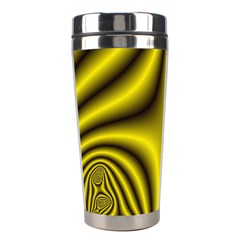 Yellow Fractal Stainless Steel Travel Tumblers