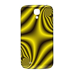 Yellow Fractal Samsung Galaxy S4 I9500/I9505  Hardshell Back Case