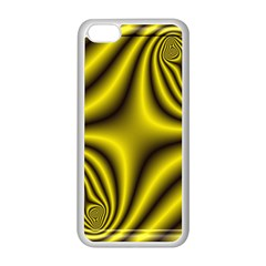 Yellow Fractal Apple iPhone 5C Seamless Case (White)
