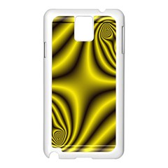 Yellow Fractal Samsung Galaxy Note 3 N9005 Case (White)