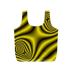 Yellow Fractal Full Print Recycle Bags (s)