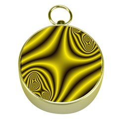 Yellow Fractal Gold Compasses