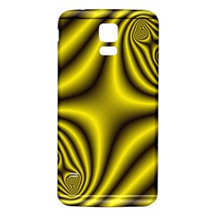 Yellow Fractal Samsung Galaxy S5 Back Case (White)