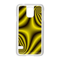 Yellow Fractal Samsung Galaxy S5 Case (White)
