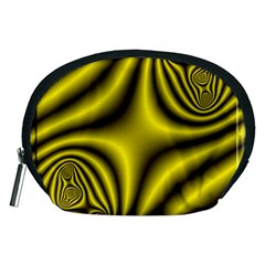 Yellow Fractal Accessory Pouches (Medium)