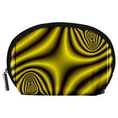 Yellow Fractal Accessory Pouches (Large)