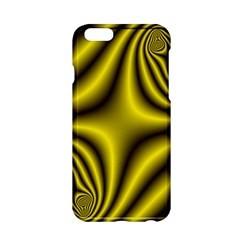 Yellow Fractal Apple iPhone 6/6S Hardshell Case