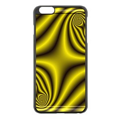 Yellow Fractal Apple iPhone 6 Plus/6S Plus Black Enamel Case