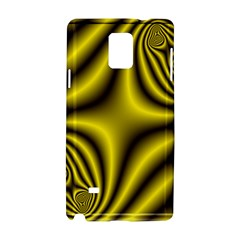 Yellow Fractal Samsung Galaxy Note 4 Hardshell Case