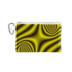 Yellow Fractal Canvas Cosmetic Bag (S)