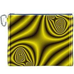 Yellow Fractal Canvas Cosmetic Bag (XXXL)