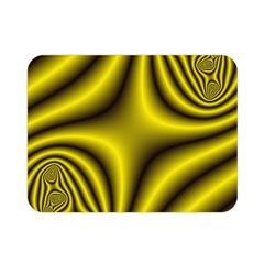 Yellow Fractal Double Sided Flano Blanket (mini)