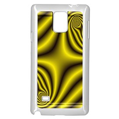 Yellow Fractal Samsung Galaxy Note 4 Case (white)