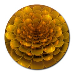 Yellow Flower Round Mousepads