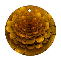 Yellow Flower Ornament (Round)