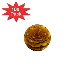 Yellow Flower 1  Mini Magnets (100 pack)