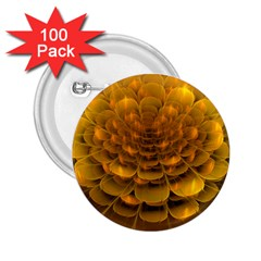 Yellow Flower 2.25  Buttons (100 pack)