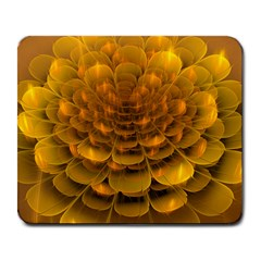 Yellow Flower Large Mousepads