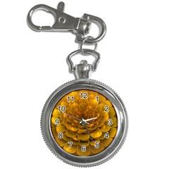 Yellow Flower Key Chain Watches