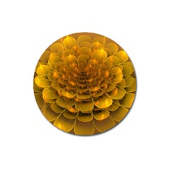 Yellow Flower Magnet 3  (round)