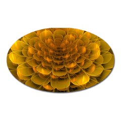 Yellow Flower Oval Magnet